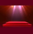 abstract podium illuminated with spotlight award