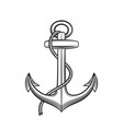 Anchor in vintage style