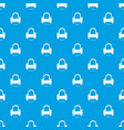 armchair pattern seamless blue vector image vector image