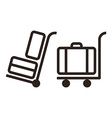 Baggage carts vector image