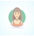 Beautiful woman fashion model girl icon vector image