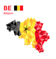 belgium flag map in polygonal geometric style vector image vector image