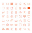 board icons vector image vector image