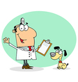 Caucasian Cartoon Canine Veterinarian Man vector image vector image