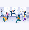 chaos in business company office concept vector image