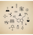 Chemical symbols vector image vector image