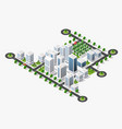 city megapolis structure vector image vector image