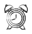 clock with bells vector image vector image