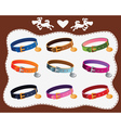collars for dogs vector image