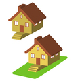 Colorful 3d house cartoon icons isolated vector image vector image