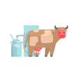 cow milking facility mechanized milking equipment vector image vector image