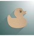Duck flat icon vector image