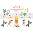 flat yoga elements set vector image vector image