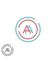 Fusion two letters AA logo monogram modern vector image vector image