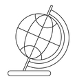 Globe icon in outline style vector image