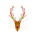 Hand Drawn of Christmas deer vector image