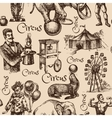 Hand drawn sketch circus and amusement vector image vector image
