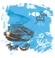 Hand drawn sketch seafood Sea vector image vector image
