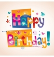 Happy Birthday text 2 vector image vector image