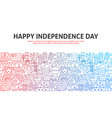 happy independence day outline concept vector image vector image