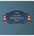 happy memorial day festive badge with ribbon vector image