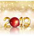 Happy new year background with gold lettering and