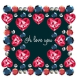 I love you decorative frame vector image vector image