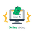 internet voting submit online vector image