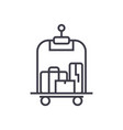 luggage in hotel line icon sign vector image