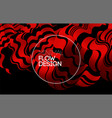 modern abstract design background flow vector image vector image