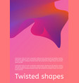 modern cover with twisting shape element trendy vector image vector image