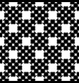 monochrome cross stitching seamless pattern vector image vector image