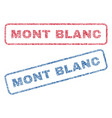 mont blanc textile stamps vector image vector image