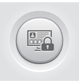 Personal Data Protection Icon vector image