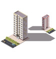 public residential nine-storey building isometry vector image vector image