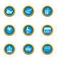 rejoicing icons set flat style vector image vector image