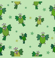 seamless hand-drawn pattern with funny birds vector image vector image