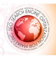 SEO Search engine optimization concept with vector image vector image