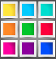 set of colored square banners vector image