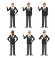 Set of FBI Agents vector image vector image