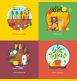 set of flat design concepts for vector image vector image
