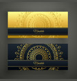 set of two luxury mandala golden banners vector image vector image
