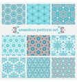 set of winter geometric pattern vector image