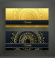 set two luxury mandala golden banners vector image