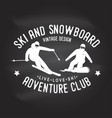 ski and snowboard club vector image