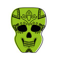 sugar skull mexican culture icon image vector image