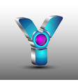 the futuristic 3d logo design vector image vector image