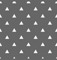 tile pattern with white triangles on grey vector image vector image