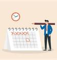 time management deadline brand event man is vector image