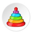 Toy pyramid icon cartoon style vector image vector image